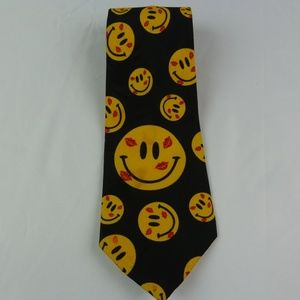 Addiction Brand Necktie Smiley Face Themed